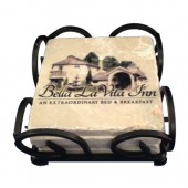 Stone Coasters - Wrought Iron Boxed Set of 4