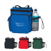 "Tall 12 Pack Cooler Bag with Mesh Pocket (8"" x 10"" x 5"")"