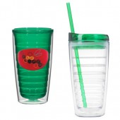 16 oz. Tritan Double Wall Tumblers with Dome Decal