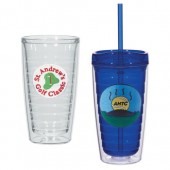 16 oz. Tritan Double Wall Tumblers with Embroidered Patch