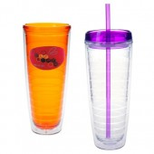 26 oz. Tritan Double Wall Tumblers with Dome Decal