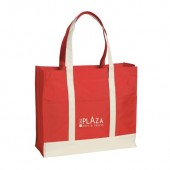 "Two-Tone Shopper Tote Bag (16.5"" x 14"" x 6"")"
