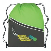 "Two-Tone Sports Pack with Front Zipper (14"" x 18"")"