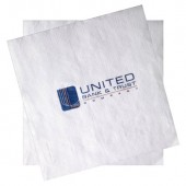 White Semi-Crepe Luncheon Napkins (Recycled 1-Ply - Large Quantities)