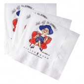 White Beverage Napkins (Recycled 2-Ply - Large Quantities)