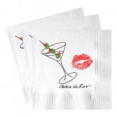 White Beverage Napkins (Recycled 3-Ply - Large Quantities)