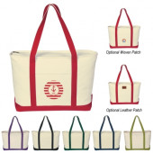 """Large Heavy Canvas Boat Tote (24"""" x 14"""" x 7"""")"""