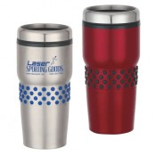 16 oz. Stainless Steel Dotted Grip Tumblers