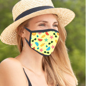 Full Color Sublimation Cooling Face Mask With Adjustable Ear Loop