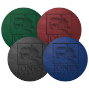 "3.875"" Debossed Bonded Leather Coasters (Colors)"