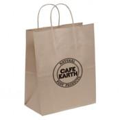 "Eco Kraft Shopping Bags (10"" x 13"" x 5"")"