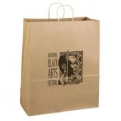 "Eco Kraft Shopping Bags (16"" x 19.25"" x 6"")"