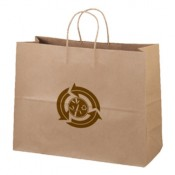 "Eco Kraft Shopping Bags (16"" x 12"" x 6"")"