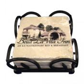 Stone Coasters - Wrought Iron Boxed Set of 4